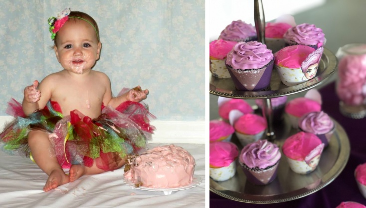 Bday fun - AW cupcakes and smash cake